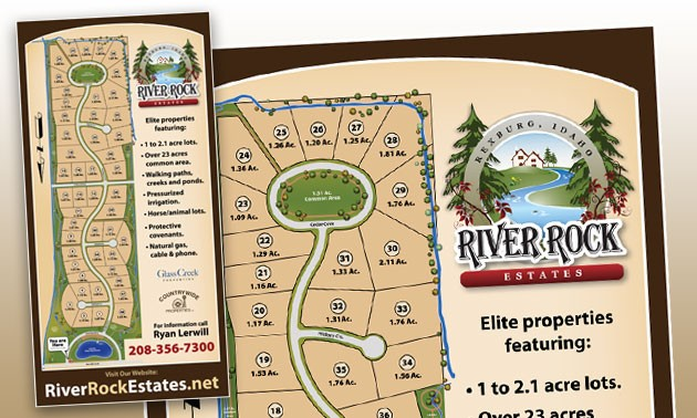 River Rock Estates Development Sign