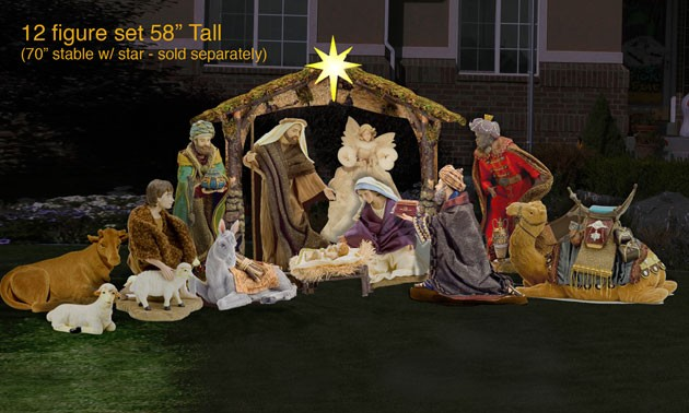 christmas nativity scene yard lawn art - Nativity Outdoor Christmas Decorations